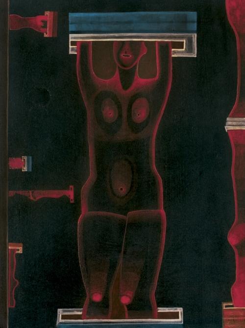Jerzy Nowosielski - KOBIETY W CIEMNI (MAŁE), 1971 sprzedany w Agra-Art
